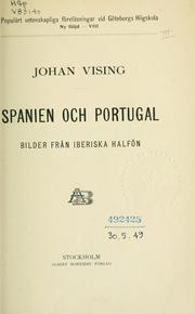 Cover of: Spanien och Portugal