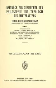Cover of: Peter Abaelards philosophische Schriften