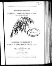 Cover of: Results obtained in 1896 from trial plots of grain, fodder corn and roots