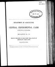 Cover of: Results obtained in 1895 from trial plots of important farm crops