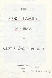 Cover of: The Ong family of America.