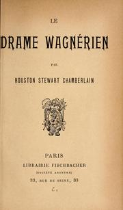 Cover of: Le drame wagnérien