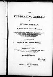 Cover of: The fur-bearing animals of North America