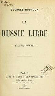 Cover of: La Russie libre-