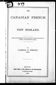 Cover of: The Canadian French in New England