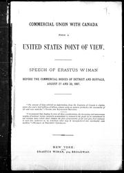 Cover of: Commercial union with Canada from a United States point of view