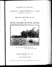 Cover of: Results obtained in 1899 from trial lots of grain, fodder corn, field roots and potatoes