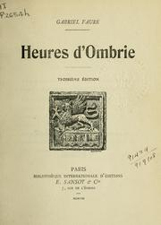 Cover of: Heures d'Ombrie.