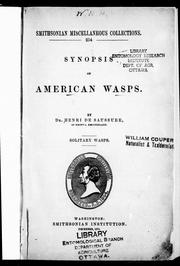 Cover of: Synopsis of American wasps