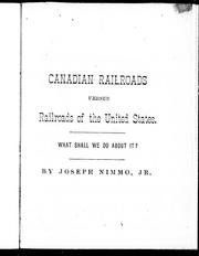 Cover of: Canadian railroads versus railroads of the United States