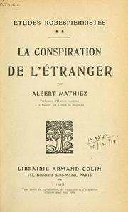 Cover of: Études Robespierristes.