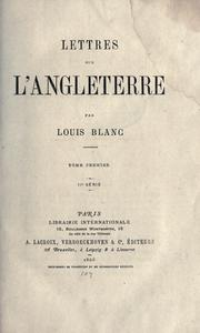 Cover of: Lettres sur l'Angleterre