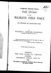 Cover of: The story of the Malakand Field Force: an episode of frontier war.