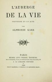 Cover of: L' auberge de la vie
