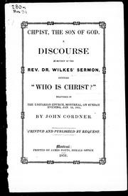 Cover of: Christ, the son of God
