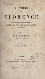 Cover of: Histoire de Florence