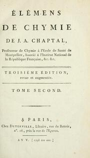 Cover of: Élémens de chymie