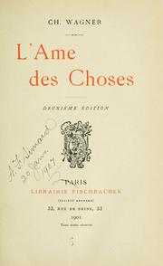 Cover of: L' ame des choses.