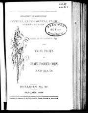 Cover of: Results obtained in 1897 from trials plots of grain, fodder corn, and roots