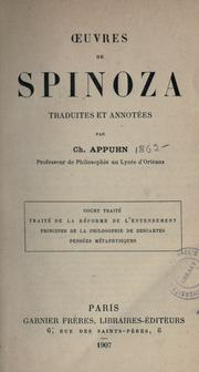 Cover of: uvres de Spinoza