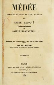 Cover of: Médée