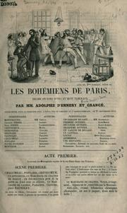 Cover of: Les bohémiens de Paris