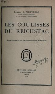 Cover of: Les coulisses du Reichstag