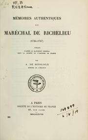 Cover of: Mémoires authentiques