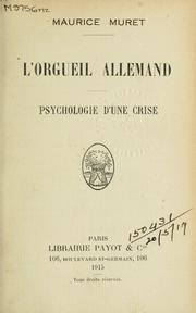 Cover of: L' orgueil allemand