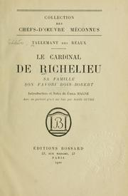 Cover of: Le cardinal de Richelieu