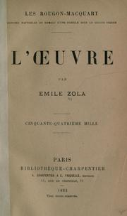 Cover of: L' oeuvre