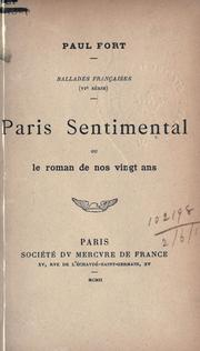 Cover of: Paris sentimental