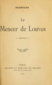 Cover of: Le meneur de louves