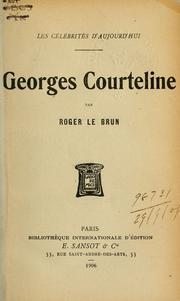 Cover of: Georges Courteline.