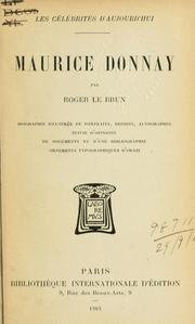 Cover of: Maurice Donnay.