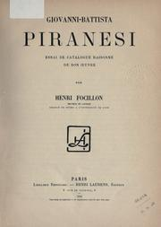 Cover of: Giovanni-Battista Piranesi