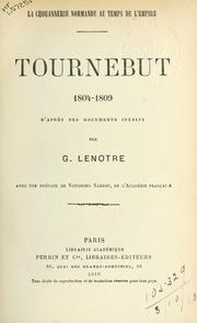 Cover of: Tournebut, 1804-1809