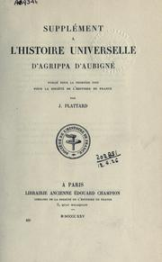 Cover of: Histoire universelle