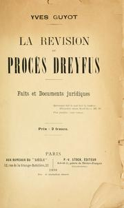 Cover of: La revision du procès Dreyfus