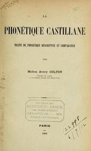 Cover of: La phonetique Castillane