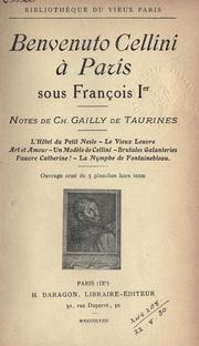 Cover of: Benvenuto Cellini à Paris sous François Ier
