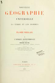 Cover of: Nouvelle géographie universelle