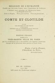 Cover of: Comte et Clotilde