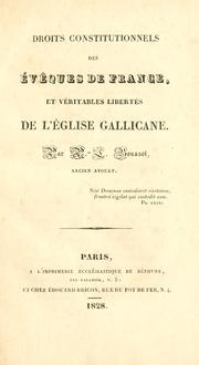 Cover of: Droits constitutionnels des évêques de France
