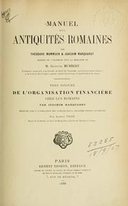 Cover of: Manuel des antiquités romaines