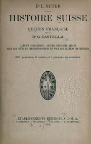 Cover of: Histoire Suisse.
