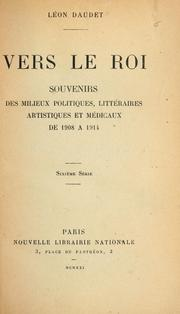 Cover of: Vers le roi