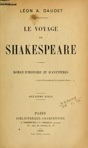 Cover of: Le voyage de Shakespeare