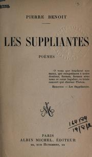 Cover of: Les suppliantes