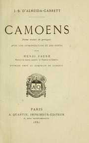 Cover of: Camoens